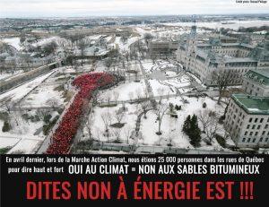 Marche action climat contre Énergie Est