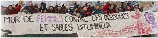 Mur de femmes contre les oléoducs et les sables bitumineux